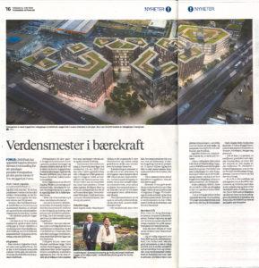 Stavanger Aftenblad Breeamsertifisering juni 2020